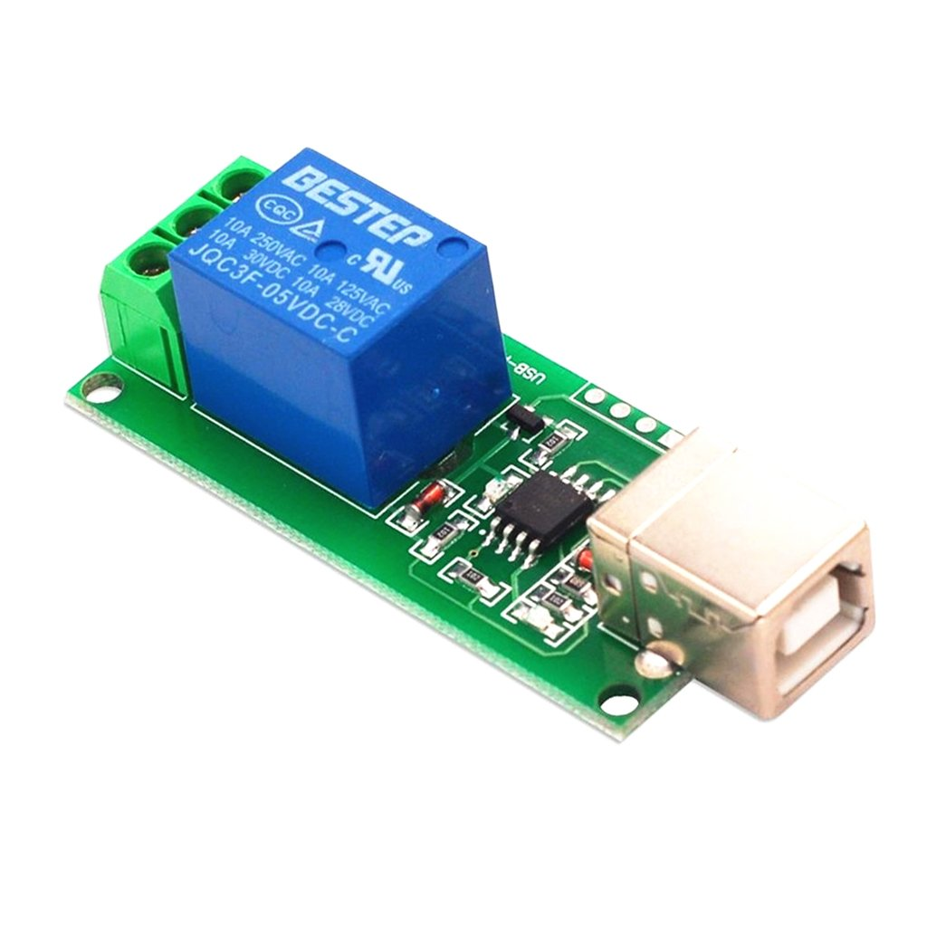 1 Kanal 5V USB Relaismodul Computersteuerschalter PC Intelligente Steuerung