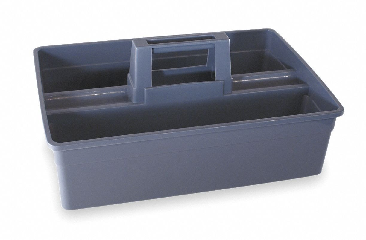 Tough Guy Carry Caddy, Gray, Plastic, 15-7/8x10-5/8