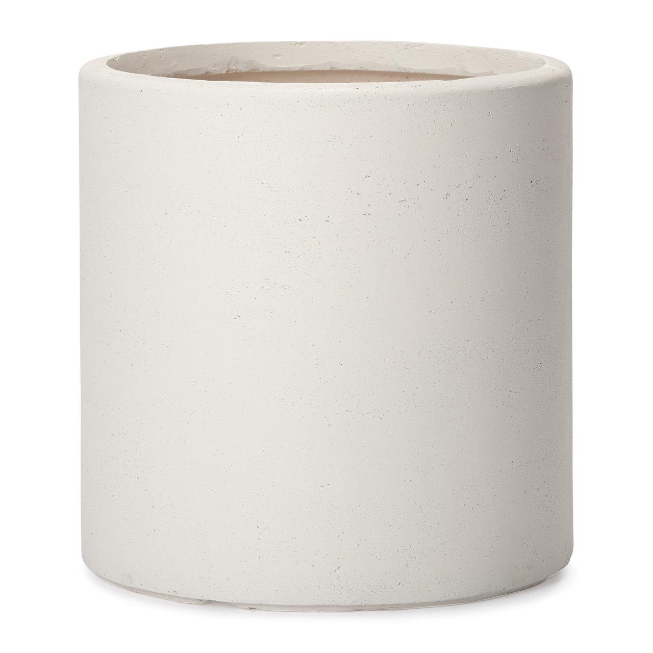 植木鉢 大型 ファイバークレイプロ アルファ シリンダープランター 45 ホワイト B00L3U730G  ホワイト 45