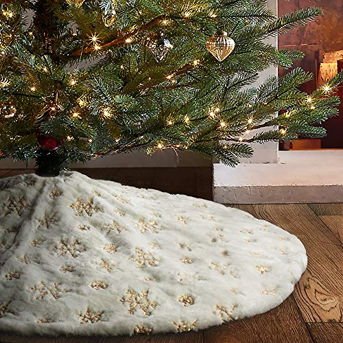 christmas tree skirt 60 inch silver buyer's guide