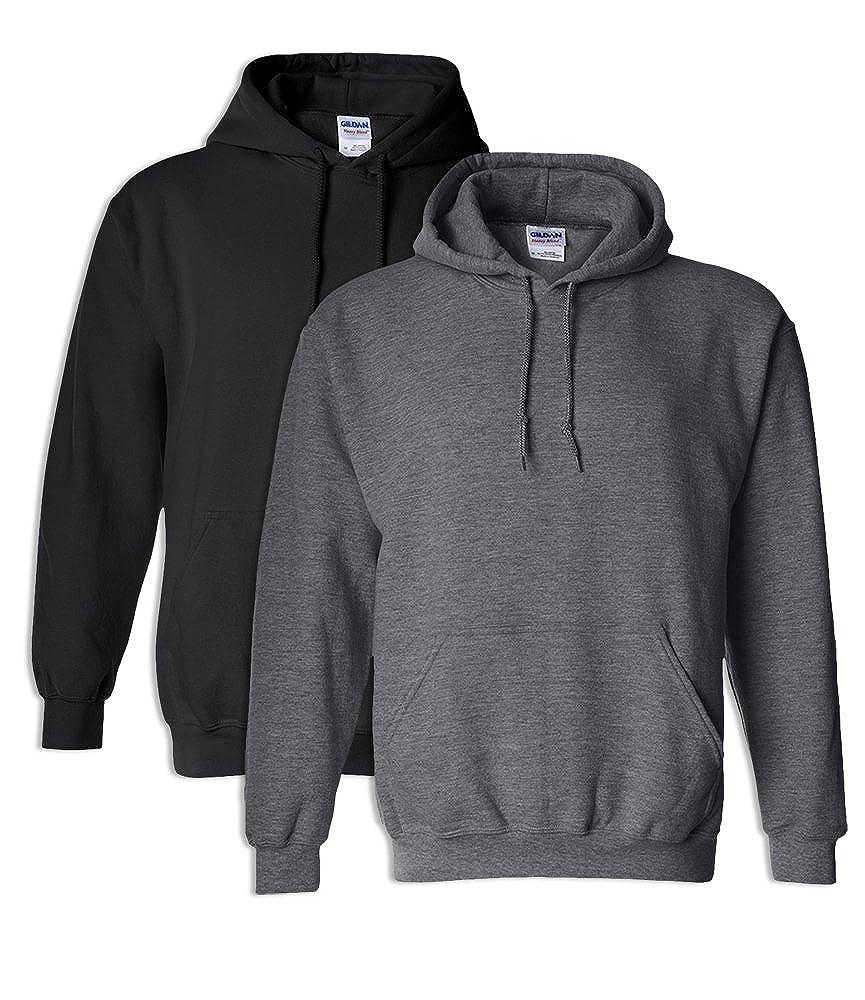 Gildan G18500 Heavy Blend Adult Hooded Sweatshirt 3XL 1 Black 1 Dark Heather