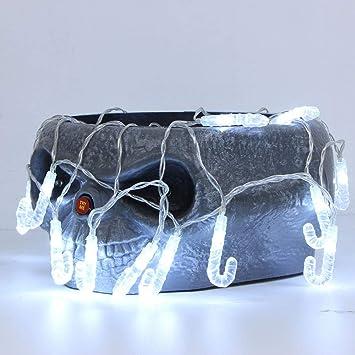 Anglewolf 1,2 m 10 luces LED de cadena exterior hada transparente césped Navidad fiesta