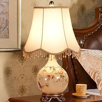 JIEJING Europäischer Stil Dekoration Tischlampe,Schlafzimmer  Nachttischlampe Moderne Wohnzimmer Tischlampe,Kreativ Wärme Leselicht