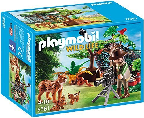 PLAYMOBIL Lynx Family with Cameraman Building Kit by PLAYMOBIL®
