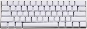 Blank Thick PBT OEM Profile 61 ANSI Keycaps for MX Switches Mechanical Keyboard (White)(Only Keycap)