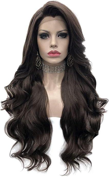 Imstyle Peluca de Encaje Frontal,Color Negro Natural,Para Mujer ...