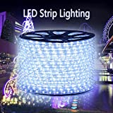 GreenSun 65ft/20m 36LEDs/M LED Rope Strip Lights Cool White Colour Waterproof LED Tubing Rope String Lights for Holiday Garden Parties Wedding and Decora