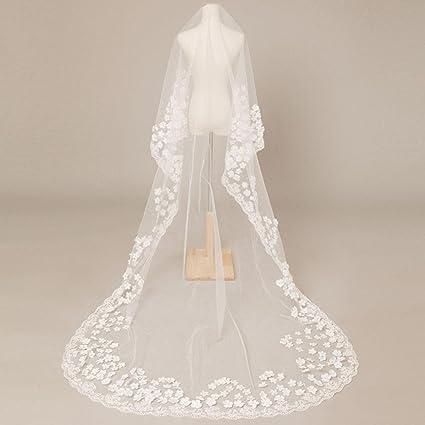 Velo de la boda Europa y los Estados Unidos novia pétalos cola larga cola suave hilo vestido de novia accesorios , A: Amazon.es: Hogar