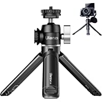 ULANZI Mini Camera Tripod with 360° Ball Head & Cold Shoe, Extendable Small Selfie Stick Tabletop Tripod Stand Handle…