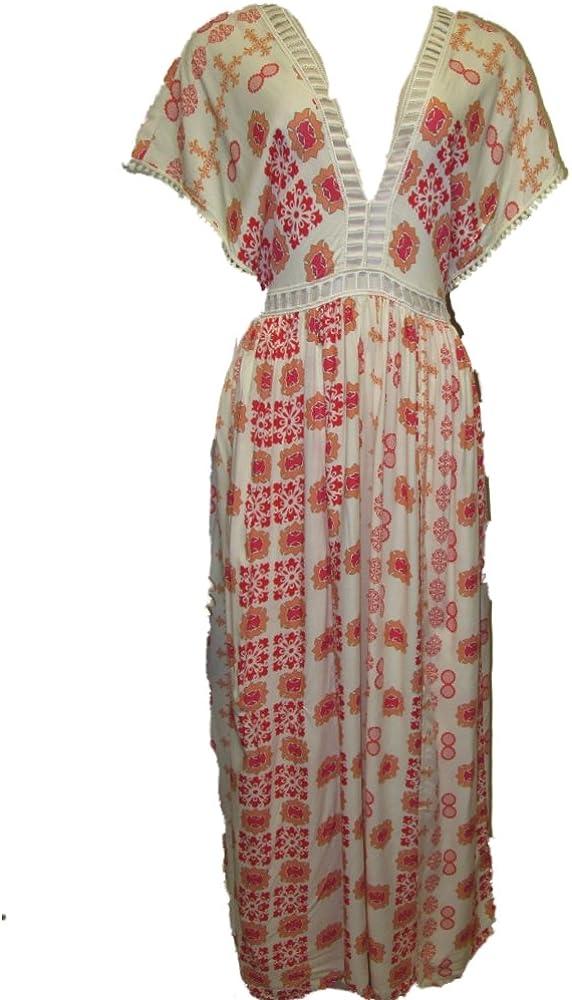 Selfie Leslie Casual Boho Maxi Dress Red Mutli At Amazon Women S Clothing Store