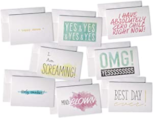 Fun & Colorful All Occasion Congrats Cards - 48 Cards & Envelopes - Assortment of Sassy Greeting Cards for Graduation, Engagement, Baby Showers, or Weddings