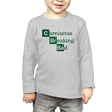 Arromper Breaking Bad Girls&Boys Long Sleeve T-Shirts 2 Toddler Gray