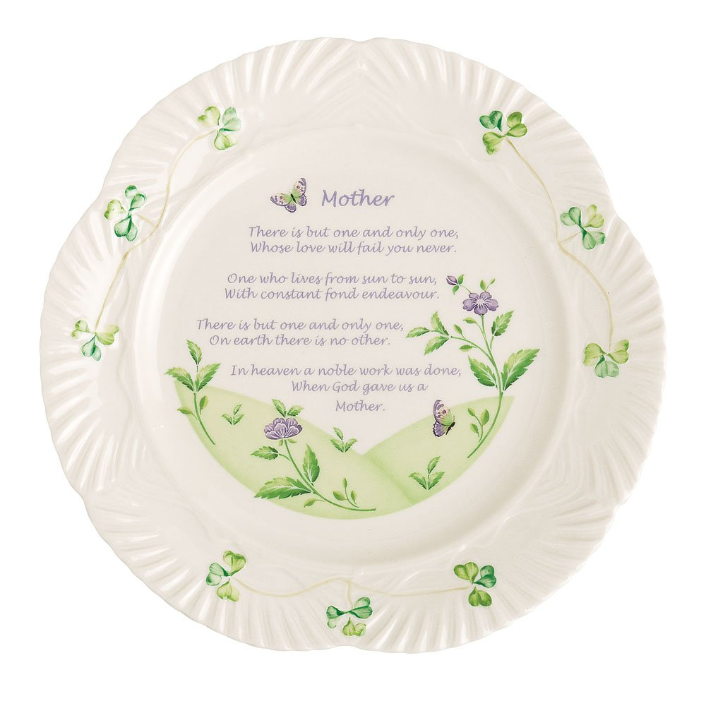 Belleek Mother's Blessing Plate, 9''