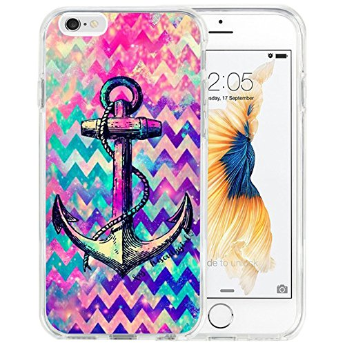 iPhone 6s plus Case iPhone 6 Plus Case TPU Non-Slip High Definition Printing Purple Wave anchor