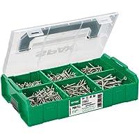 SPAX montagekoffer, L-BOXX Mini, klein, WIROX A3J, T-STAR plus, verzonken kop, 6 afmetingen, 703 stuks, incl. 3 SPAX…