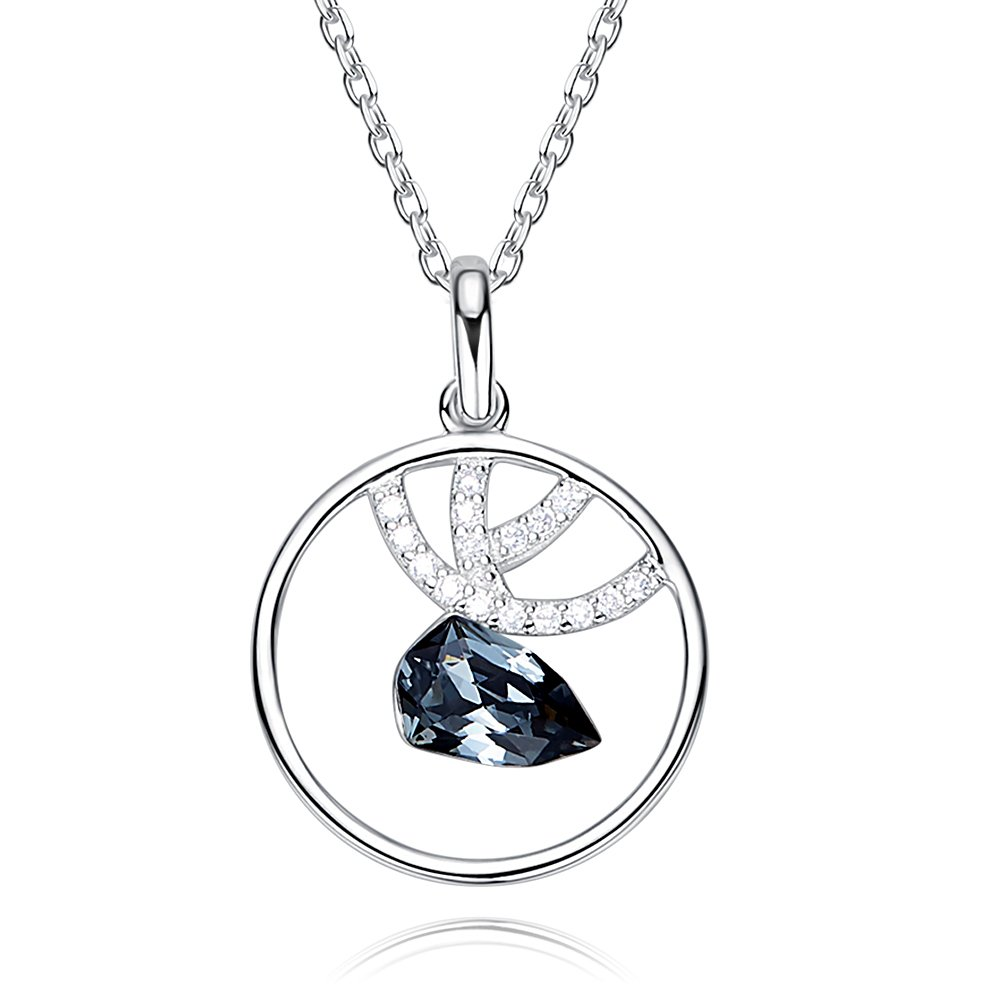 CDE 925 Sterling Silver Necklace for Women Animal Swarovski Pendant Fine Necklaces Gifts for Her