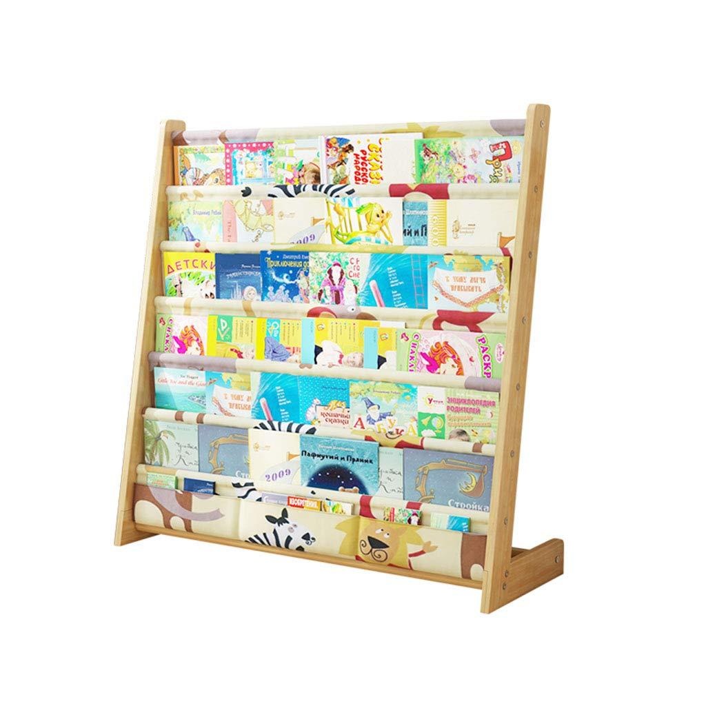 Librerie Bookshelf Portariviste Scaffale per Bambini Montaggio Semplice in Legno massello scaffale per Bambini da Terra mensole multifunzionali per Libri illustrati YNSHOP