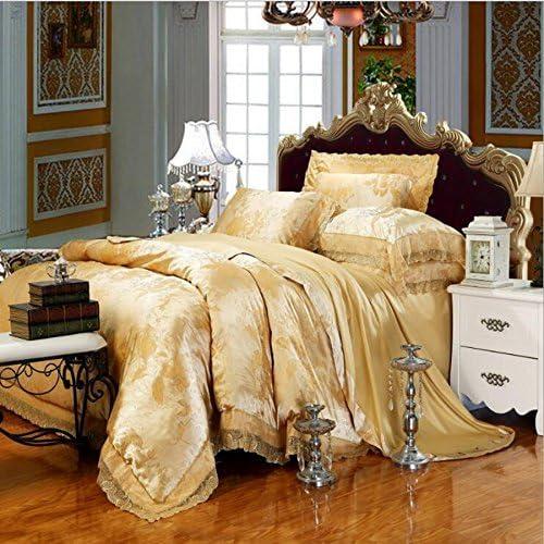 寝具布団カバー ヨーロッパ、新品、サテンジャカード、寝具、4セット、ベッドサイズ2.0Mに適しています キルト掛け布団寝具セット