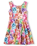 Amazon Price History for:Jxstar Girl's Dress Animal Print for Skater Travel Beach Pattern Sleeveless Dress
