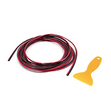 sourcing map Coche Rejilla Embellecedor Moldura Cinta Decorativa Tira Rojo 6mm 5M: Amazon.es: Coche y moto