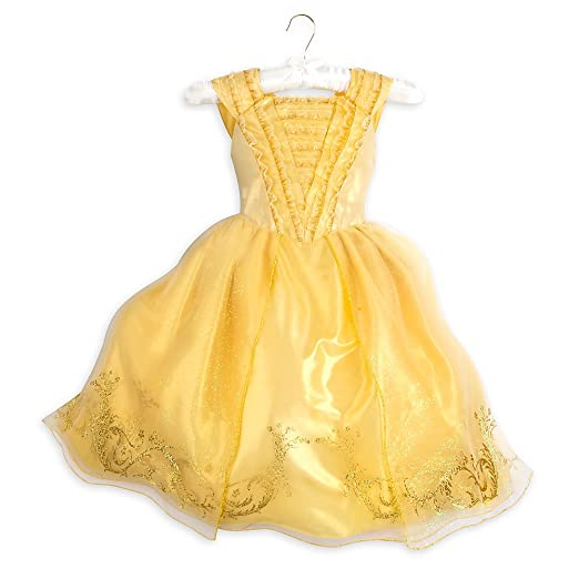 ebd200c6ee7 Amazon.com  Disney Belle Costume for Kids - Beauty and The Beast - Live  Action Film Size 5 6  Clothing