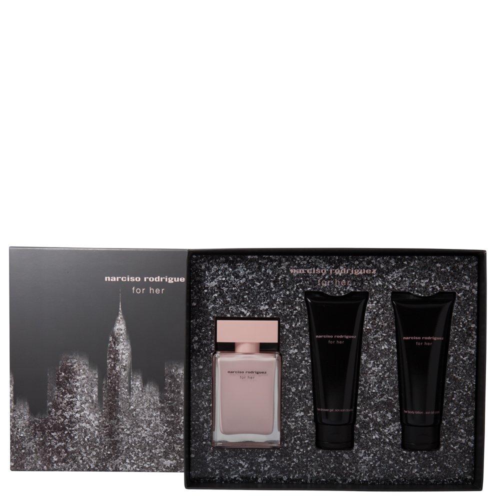 Narciso Rodriguez For her femme/woman Set (Eau de Parfum (50 ml), Bodylotion (50 ml), Duschgel (50 ml)) NAR00057