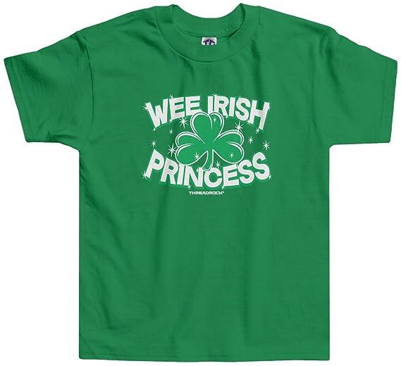 945383ac0 Amazon.com: Threadrock Little Girls' Wee Irish Princess Toddler T-Shirt:  Clothing