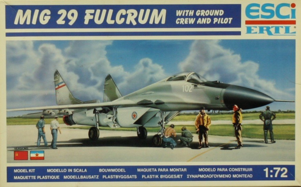 ESCI ERTL 1 : 72 MiG 29 Fulcrum航空機プラスチックモデルキット# 9095 B07BNKSC7R