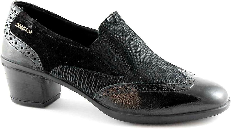 1b286113c33 zapatos negro suave ENVAL 69150 mocasines del dedo del pie del talón pintan  bordado