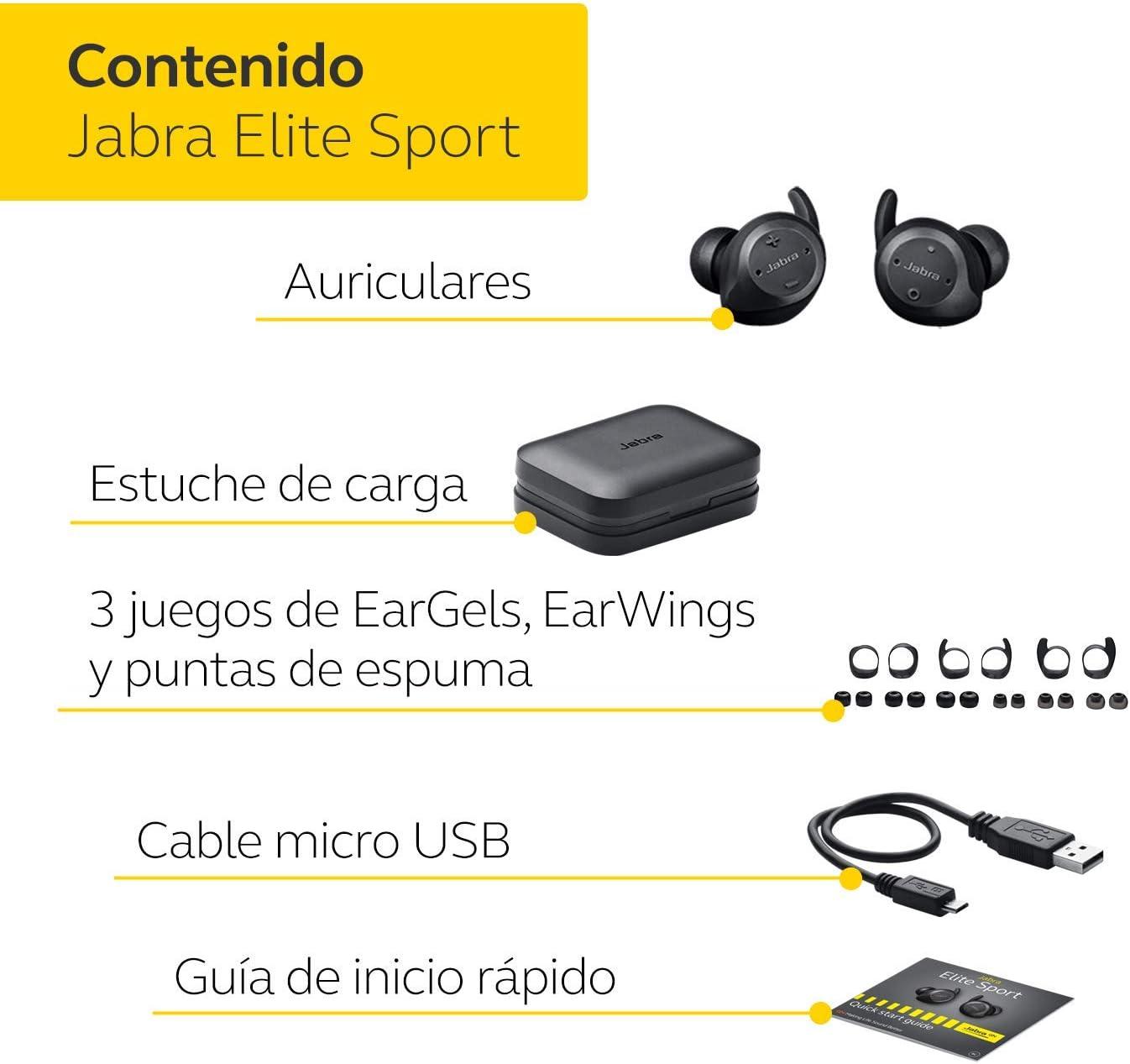 Jabra Elite Sport auriculares estéreo totalmente inalámbricos con ...