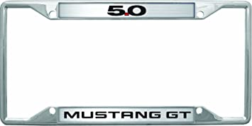ford mustang gt 50 license plate frame