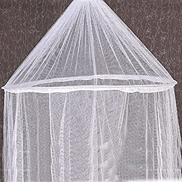 Round Lace Curtain Dome Kids Bed Canopy Netting Princess Mosquito Nets ColorWhite & Amazon.com: Round Lace Curtain Dome Kids Bed Canopy Netting ...