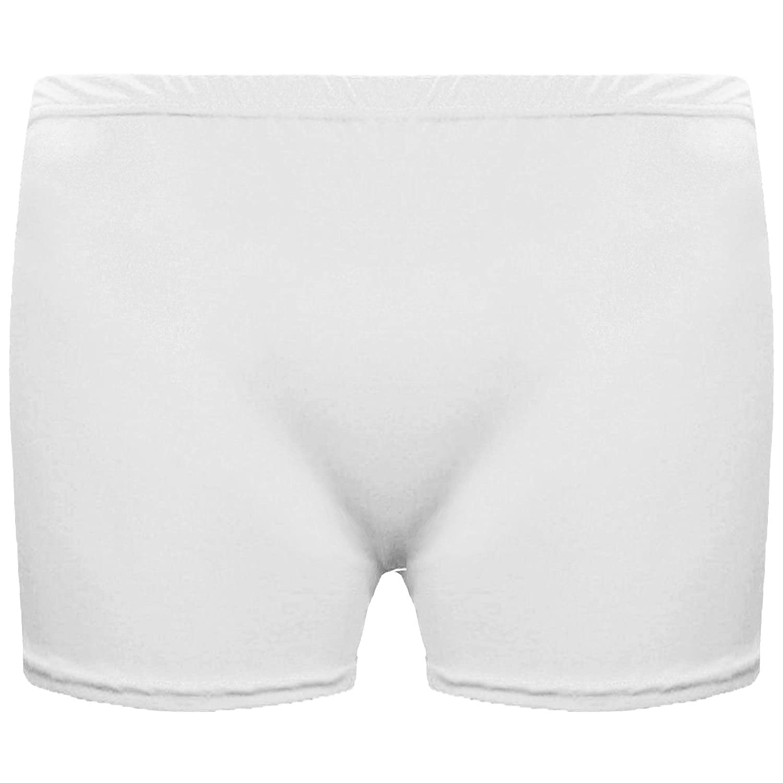 ADMIRE New Girls Kids Children Neon Stretchy Hot Pants Shorts Dance Tutu Shorts Age 3-14yrs Black, 7//8 Years