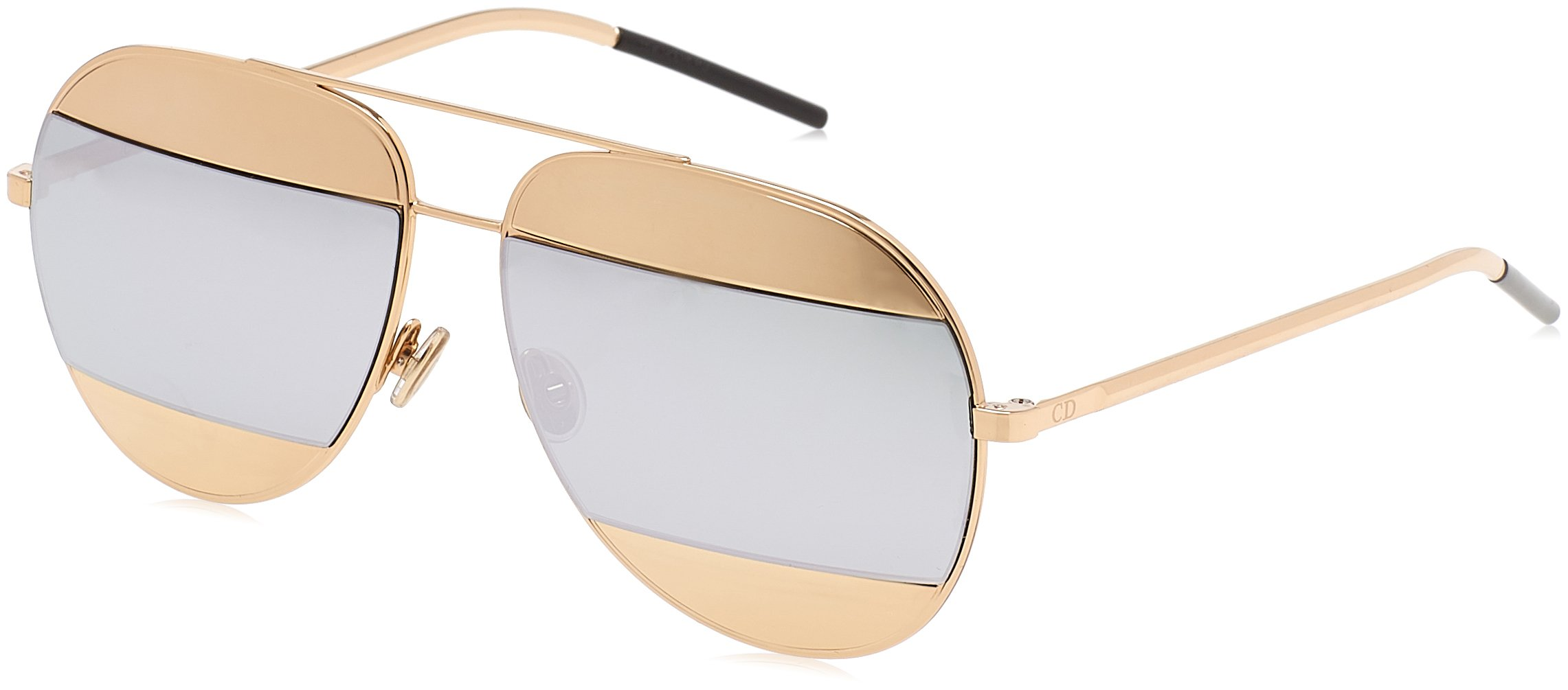 Dior Womens Split 59Mm Metal Aviator Sunglasses