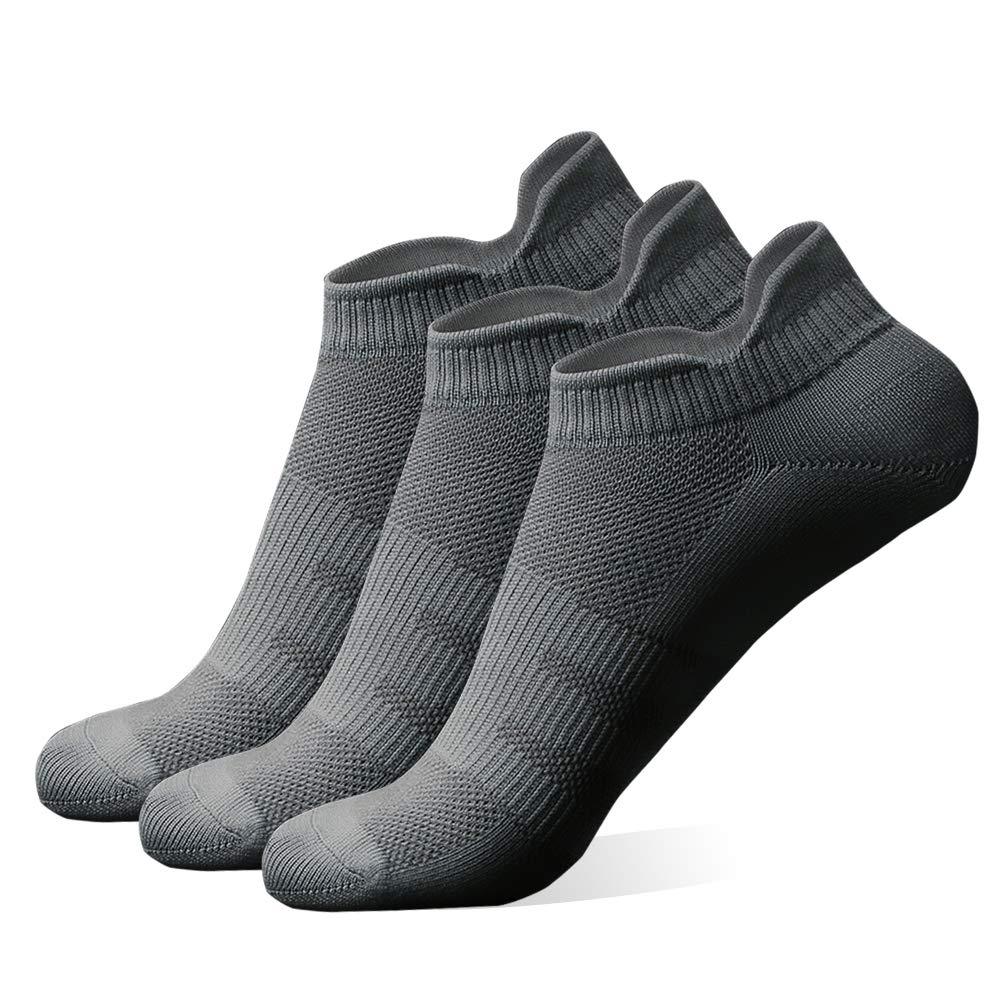diwollsam Athletic Socks Women Pack, Girls Hidden Sport Bicycle Mountain Climbing Travel Cozy Low Cut Running Tennis Casual Socks(3 Pairs, Gray, M) by diwollsam