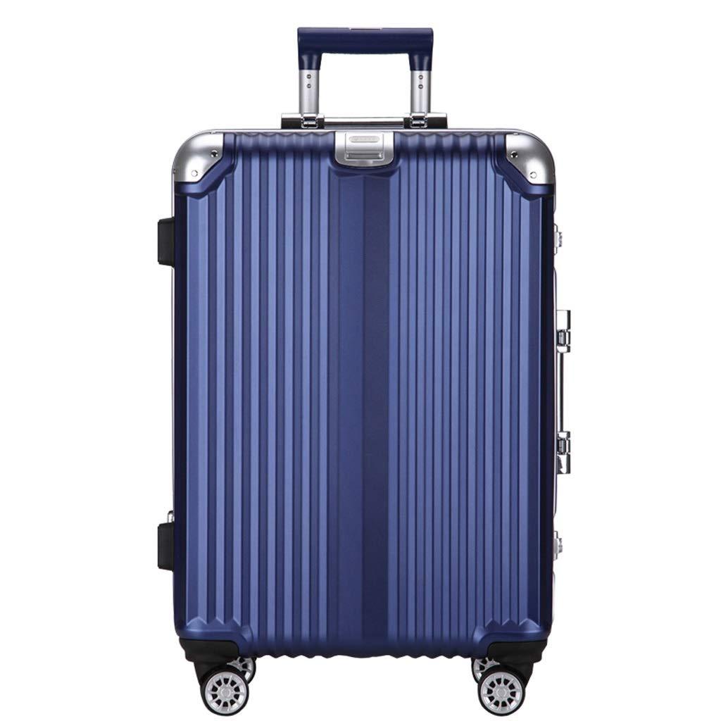 ZHAOSHUHLI スーツケース旅行トロリーケースビジネストロリーキャスター女性男性の荷物アルミフレームパスワード旅行ケースベルクロフック (Color : Blue, Size : 29'') B07QYF53V2 Blue 29''