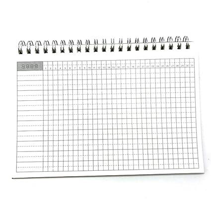GOUDEDE Cuaderno espiral Cuaderno Planificador semanal ...