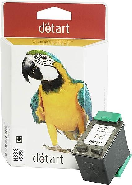 Cartucho de tinta Dotart remanufacturado HP 338 negro c8765, 1 Negro compatible HP Officejet 100 150 H470 K7103, HP Photosmart C3110 C3125 C3173 C3175 C3193 C3194- Alto Rendimiento: Amazon.es: Oficina y papelería