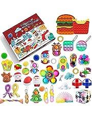Fidget Advent Calendar 2021 Christmas Countdown Calendar 24 Days Sensory Fidget Toy Pack Novelty Decorations Gift Boxes for Kids Adults Xmas Holiday Party Favor (B1, 40 PCS)
