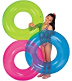 """Intex Pack of 3: 30"""" Transparent Tubes (Colors May Vary)"""