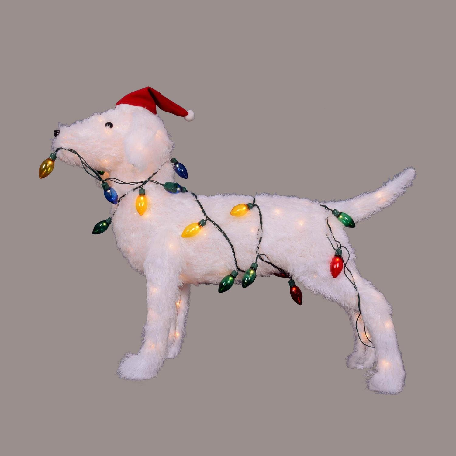 28.5'' 3D Standing Decorative Dog Lighted Christmas Yard Art Decoration by Northlight