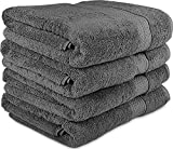 Kyпить 700 GSM Premium Towels Set 4 Pack - Cotton for Hotel & Spa Maximum Softness and Absorbency by Utopia Towels (4 Bath Towels) (grey) на Amazon.com