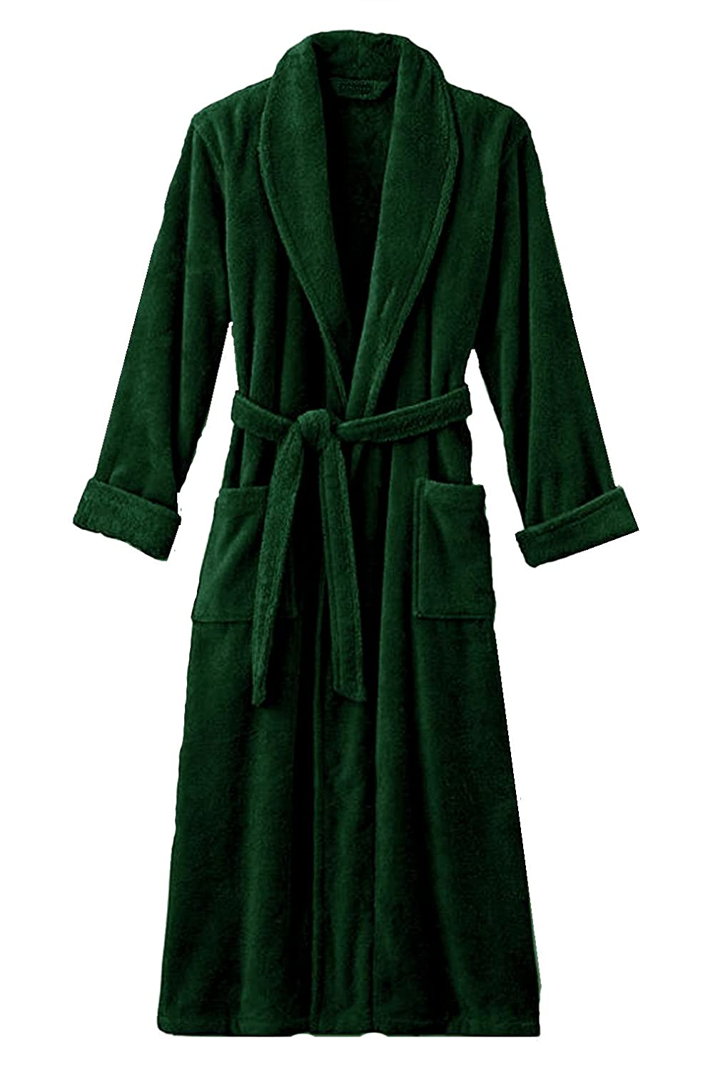 Terry Bathrobe 100% Cotton - 12 Colors Available. (Navy Blue)