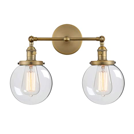 1930fb3545ed Phansthy Vintage 2 Light Wall Sconce Industrial Wall Light with Dual 5.9
