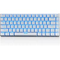 Mechanical Gaming Keyboard Blue Switch Customizable Wired Backlit keyboard 82-Keys Extreme Simple Design(Flames Version) by Qisan