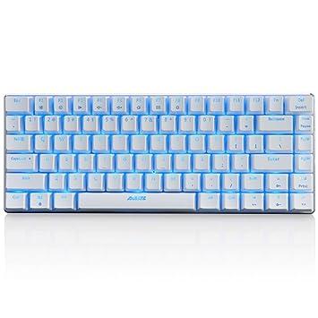 Gaming Mecánico Teclado con cable Negro Switch Backlight teclado Teclas de 82 Blanco by Qisan: Amazon.es: Electrónica
