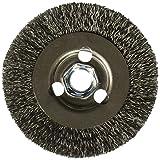 Bosch WB569 4-Inch Crimped Carbon Steel Wire Wheel, 5/8-Inch x 11 Thread Arbor
