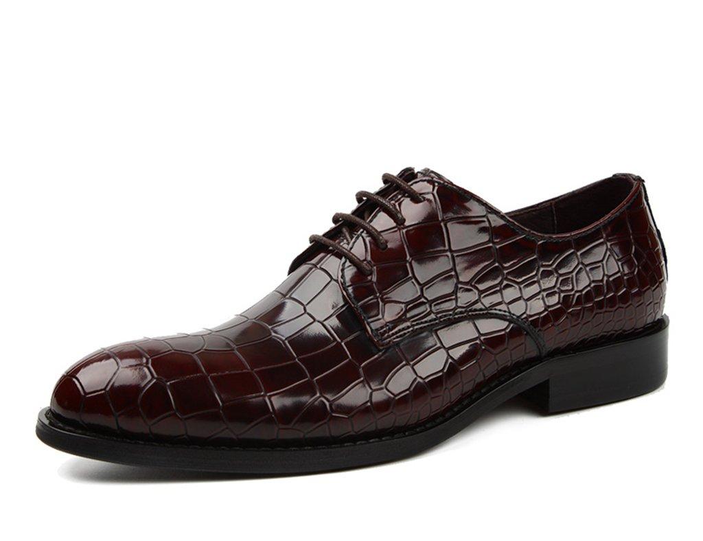 Herren Lederschuhe Herren Lederschuhe Business Formal Wear Spitzen Britischen Stil Spitze Hochzeitsschuhe Herrenschuhe (Farbe   Weinrot, größe   EU42 UK7.5)