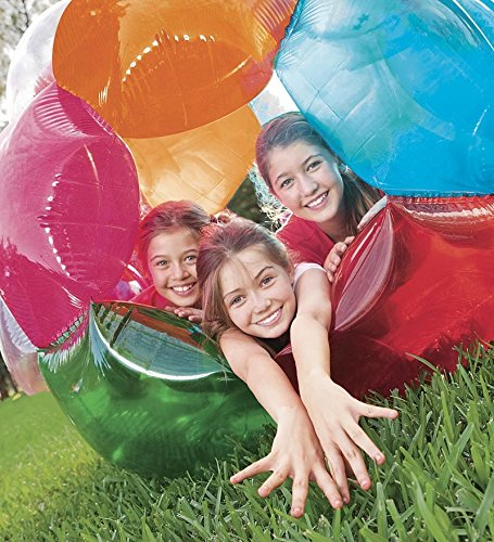 Light Up Multi Color Kaleidoscopic GBOP Great Big Outdoor Play Ball Confetti Filled Motion Activated LEDs Inflatable Durable PVC 65'' Diam by HearthSong (Image #4)