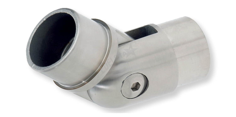 1 St/ück,80500 CROSO T-Verbinder f/ür Rohr Durchmesser 42,4 x 2 mm Edelstahl geschliffen V2A